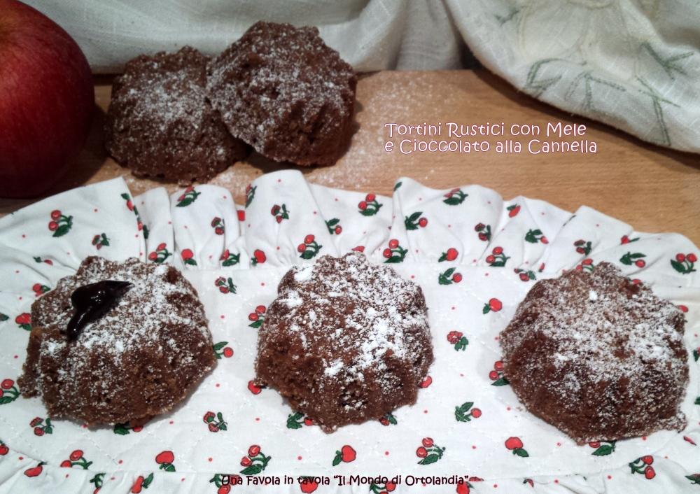 Tortini Rustici con Mele e Cioccolato alla cannella: una dolce buona notte (2/3)