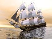 18837611-primo-piano-di-un-bel-dettagliato-vecchia-nave-mercantile-a-mare-di-luce-del-tramonto