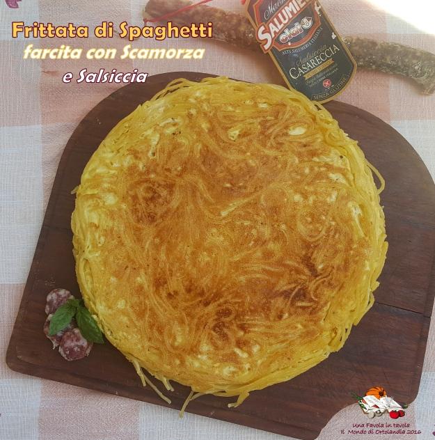 frittata di spaghetti con salsiccia (2) - Copia