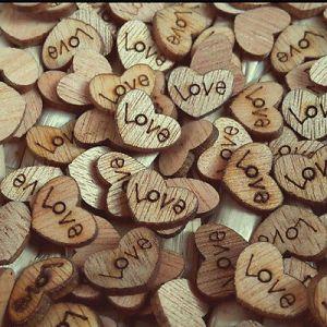 100x-amore-cuore-in-legno-matrimonio-tavolo-decor